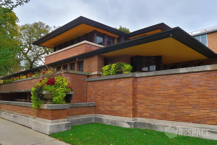 View Larger Image Professional Architectural Photography Exterior View,  Architect Frank LLoyd Wrightu0027s Frederick C. Robie House ...